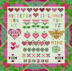 cross+stitch+images | Cross Stitch Freebie ~ Bee Mine
