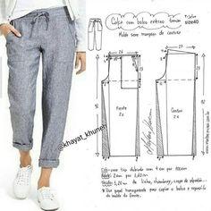 Pantalones tipo papel bag elegantes y cómodos. 🧵 Tela recomendad