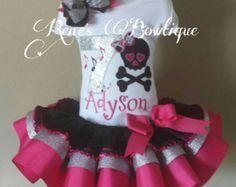 Peppa Pig cinta tutú conjunto por RenesBowtique en Etsy