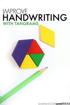 Work on handwriting skills using tangrams to address the visual perception skills needed for written work. Work on handwriting skills using tangrams to address the visual perception skills needed for written work. Handwriting Activities, Improve Your Handwriting, Improve Handwriting, Handwriting Practice, Cursive Handwriting, Visual Motor Activities, Therapy Activities, Learning Activities, Therapy Ideas