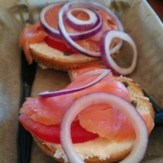 Lox and bagels from Einstein Bros Bagels #EinsteinBros #Lox #Bagels