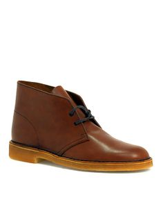 Also can't go wrong with a pair of classic brown Desert Boots from Clarks. I wish the pictures were more consistent though. I really can't tell if colors are different from site to site or if it's the quality of the picture. $145 #shoes