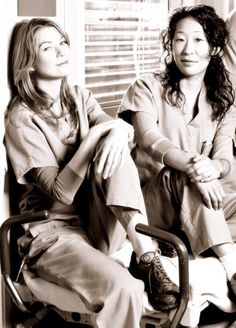 Ellen Pompeo and Sandra Oh; Grey's Anatomy