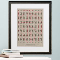 Christmas Wordsearch Art Print. Personalise this festive style wordsearch with words that mean something to you or the family you're giving it to. Add a message and their name underneath.