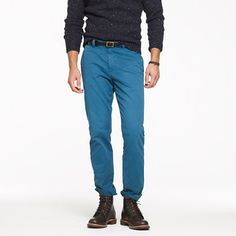 Sun-faded chino in urban slim fit in deep harbor color (its dark blue) i don't have any navy chinos i also don't mind the other colors.