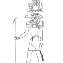 SOBEK god of Ancient Egypt coloring sheet - Coloring page - COUNTRIES Coloring Pages - EGYPT coloring pages - GODS AND GODDESSES of Ancient Egypt coloring pages