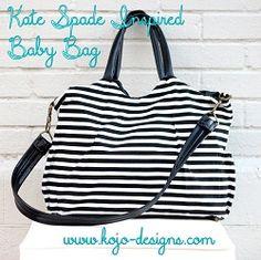 Tutorial: Designer-inspired striped diaper bag or tote · Sewing | CraftGossip.com