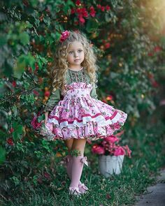 Floral Dress by Irina Chernousova - Photo 243020423 / Cute Outfits For Kids, Cute Girls, Toddler Fashion, Kids Fashion, Fashion 2016, Fashion Outfits, Little Girl Dresses, Flower Girl Dresses, Stylish Dresses