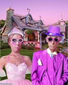 American Gothic in Pink by GarRobMil American Gothic Painting, American Gothic House, American Gothic Parody, Grant Wood, Mona Friends, Art Grants, Pink Day, Famous Artwork, Art Institute Of Chicago
