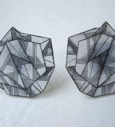 Shrink plastic earrings  Anne Tranholm