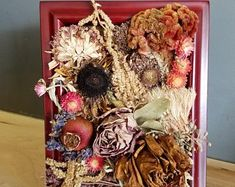 Connect to nature through dried flower art by afloristsdaughter How To Preserve Flowers, Chrysanthemum, Natural Wonders, Dried Flowers, Flower Art, Ladder Decor, Floral Arrangements, Etsy Seller, Handmade Gifts