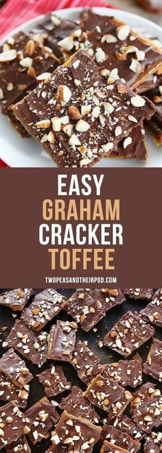 Easy Graham Cracker Toffee is the perfect holiday treat! You only need 5 ingredi.- Easy Graham Cracker Toffee is the perfect holiday treat! You only need 5 ingredi… Easy Graham Cracker Toffee is the perfect holiday treat! Graham Cracker Toffee, Graham Crackers, Graham Cracker Dessert, Graham Cracker Recipes, Graham Cracker Cookies, Cracker Candy, Dessert Bars, Bon Dessert, Dessert Aux Fruits