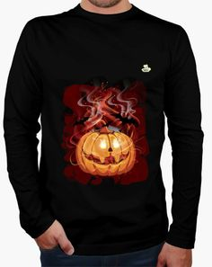 Camiseta Halloween Party Camiseta hombre manga larga 19 2075b115fa7