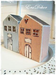 Vintage  faházak 2db, Baba-mama-gyerek, Otthon, lakberendezés, Dekoráció, Karácsonyi, adventi apróságok, Meska