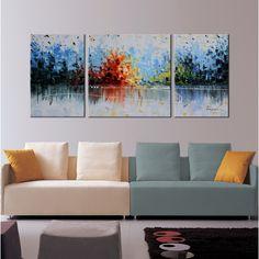 <li>Artist: Unknown</li><li>Title: 'Cheerful Melody' </li><li>Product type: Hand-painted gallery-wrapped canvas art set</li>