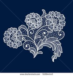 Find Lace Flowers Decoration Element stock images in HD and millions of other royalty-free stock photos, illustrations and vectors in the Shutterstock collection. Border Embroidery Designs, Cutwork Embroidery, Machine Embroidery Patterns, Embroidery Thread, Beaded Jewelry Patterns, Lace Patterns, Lace Art, Lace Painting, Paper Lace