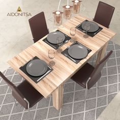 Τραπέζι 120x80 με ενισχυμένη τάβλα κατάλληλο για την τραπεζαρία και την κουζίνα. Διάσταση επεκτειμόμενη 160x80. Από την Alphab2b.gr Dining Room, Table, Furniture, Home Decor, Decoration Home, Room Decor, Tables, Home Furnishings, Home Interior Design