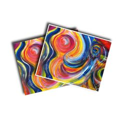 Abstract Print 8x10 Giclee Print Multicolored by HeartWishezStudio
