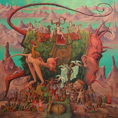 """Babylon handing the key to the abyss to the kings of the world"" By Michael Hutter"