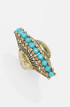 Peacock ring- so cool!