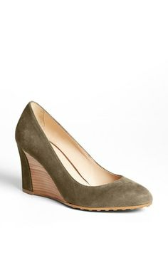 Tod's Suede Wedge Pump available at #Nordstrom