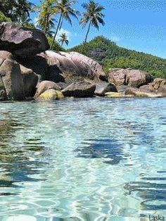 boulders & shimmering water