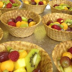 Organic fresh fruit waffle bowls - Freshmade NYC, Catering & Events for Kids www.freshmadenyc.com