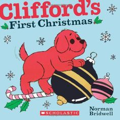 Clifford's First Christmas by Norman Bridwell https://www.amazon.com/dp/0545217733/ref=cm_sw_r_pi_dp_x_AktgybWD4G9R5