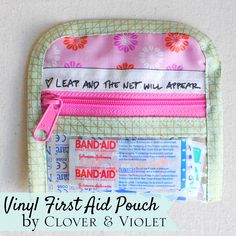 Last-Minute Gift Tutorial: Vinyl First Aid Pouch