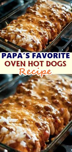 Papa's Favorite Oven Hot Dogs Recipe Papa's Favorite Oven Hot Dogs Recipe There was quite a bit of work involved making over 100 dogs wrap. Dog Recipes, Gourmet Recipes, Beef Recipes, Cooking Recipes, Cooking Tips, Dessert Recipes, Easy Recipes, Recipies, Easy Casserole Recipes