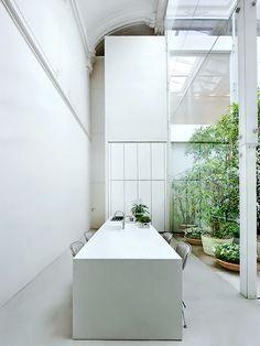 Piero Lissoni - organic, minimalist, white, green kitchen - unreal