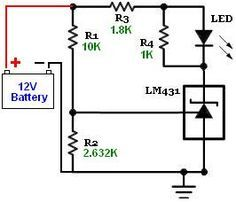 Battery monitor with set to Battery Charger Circuit, Automatic Battery Charger, Hobby Electronics, Electronics Projects, Simple Circuit, Electronic Circuit Projects, Electronic Schematics, Power Generator, Voltage Regulator