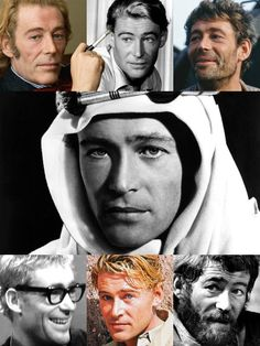 Peter O'Toole (Aug. 2, 1932 – Dec. 14, 2013) was an Irish actor. He attended the Royal Academy of Dramatic Art, & began working in the theatre, gaining recognition as a Shakespearean actor at the Bristol Old Vic & with the English Stage Company. He achieved stardom playing T. E. Lawrence in the film Lawrence of Arabia (1962) for which he received his first Academy Award nomination. He holds the record for the most Academy Award acting nominations (eight) without a win.