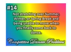 dance problems... Not just completion dancers