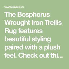 382b729b527 Bosphorus Wrought Iron Trellis Rug