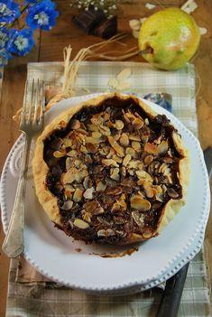 Tarte poire, chocolat et amandes - Recette facile et végétarienne