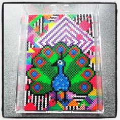 Hama perler bead art on a tray by norkletoserne Melty Bead Patterns, Hama Beads Patterns, Beading Patterns, Perler Beads, Fuse Beads, Beaded Banners, Hama Beads Design, Melting Beads, Perler Bead Art