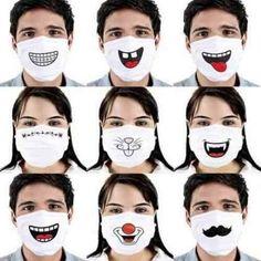 Cotton Dust Mask Cartoon Expression Teeth Muffle EXO-K Chanyeol Face Respirator Anti Kpop Bear Mouth Mask . Mouth Mask Fashion, Fashion Face Mask, Animal Face Mask, Animal Faces, Diy Mask, Diy Face Mask, Mouth Mask Design, Funny Face Mask, Masks Art
