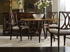 Hooker Furniture Palisade Dining Set with Round Table Furniture Sofa Set, Hooker Furniture, Furniture Sale, Furniture Collection, Online Furniture, Bedroom Furniture, 60 Inch Round Table, Dining Chairs, Dining Table