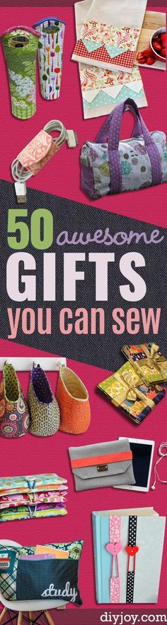 DIY Sewing Gift Ideas for Adults and Kids, Teens, Women, Men and Baby - Cute and Easy DIY Sewing Projects Make Awesome Presents for Mom, Dad, Husband, Boyfriend, Children http://diyjoy.com/diy-sewing-gift-ideas                                                                                                                                                                                 More