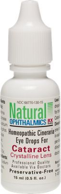 An FDA-registered homeopathic medicine, these sterile, pH balanced, no-sting eye drops are formulated using the active ingredient cineraria maritima, which has been used for over 100 years to safely and effectively treat the symptoms of cataracts.