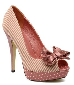 pink polka dots and stripes...I'm too tall to wear these, but so pretty!
