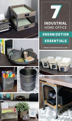 Control Home Office Clutter And Organize Your With These Cool Indust