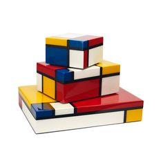 Beautiful box for home deco Piet Mondrian, Wassily Kandinsky, Creative Gifts, Unique Gifts, Arte Country, Contemporary Abstract Art, Modern Art, Art Desk, Box Art