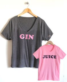 Gin & Juice Mom and Child T-Shirt Set – Cloud & Clover