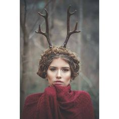 Deer antlers headband Satyr horns Horn Headband, Burning man,... ($86) ❤ liked on Polyvore featuring accessories, hair accessories, headband hair accessories, embellished headbands, deer headband, hair band accessories and crown headband