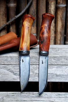 Eric Plazen blades. I really like the character of these handles!