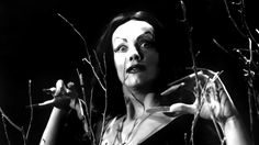 "Television horror host Vampira as ""Ghoul Girl"" in PLAN 9 FROM OUTER SPACE (1959)."