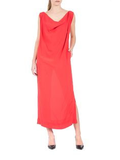 Vivienne Westwood Anglomania - Rydge long slim fit dress - precious red long dress - ZO ET LO EASY SHOPPING WORLDWIDE EXPRESS SHIPPING