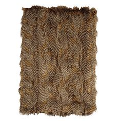 Wooded River Feathers Faux Fur Throw